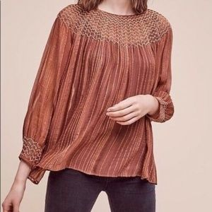 Anthropologie Love Sam Bresle Peasant Top XS 12339